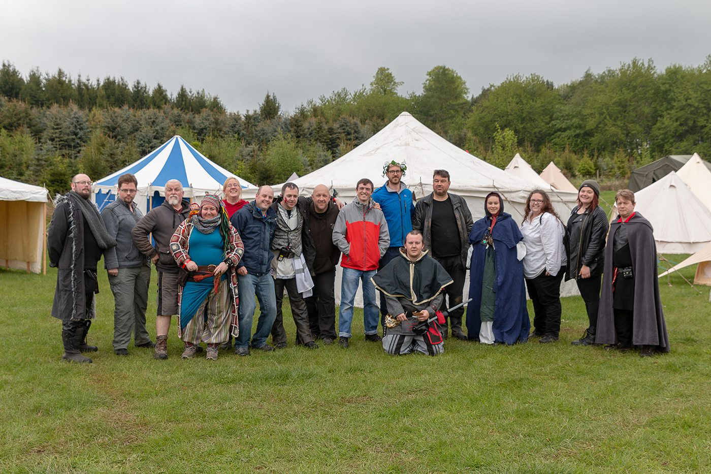 Lorien Trust LARP set up team for the 2019 Spring Moot