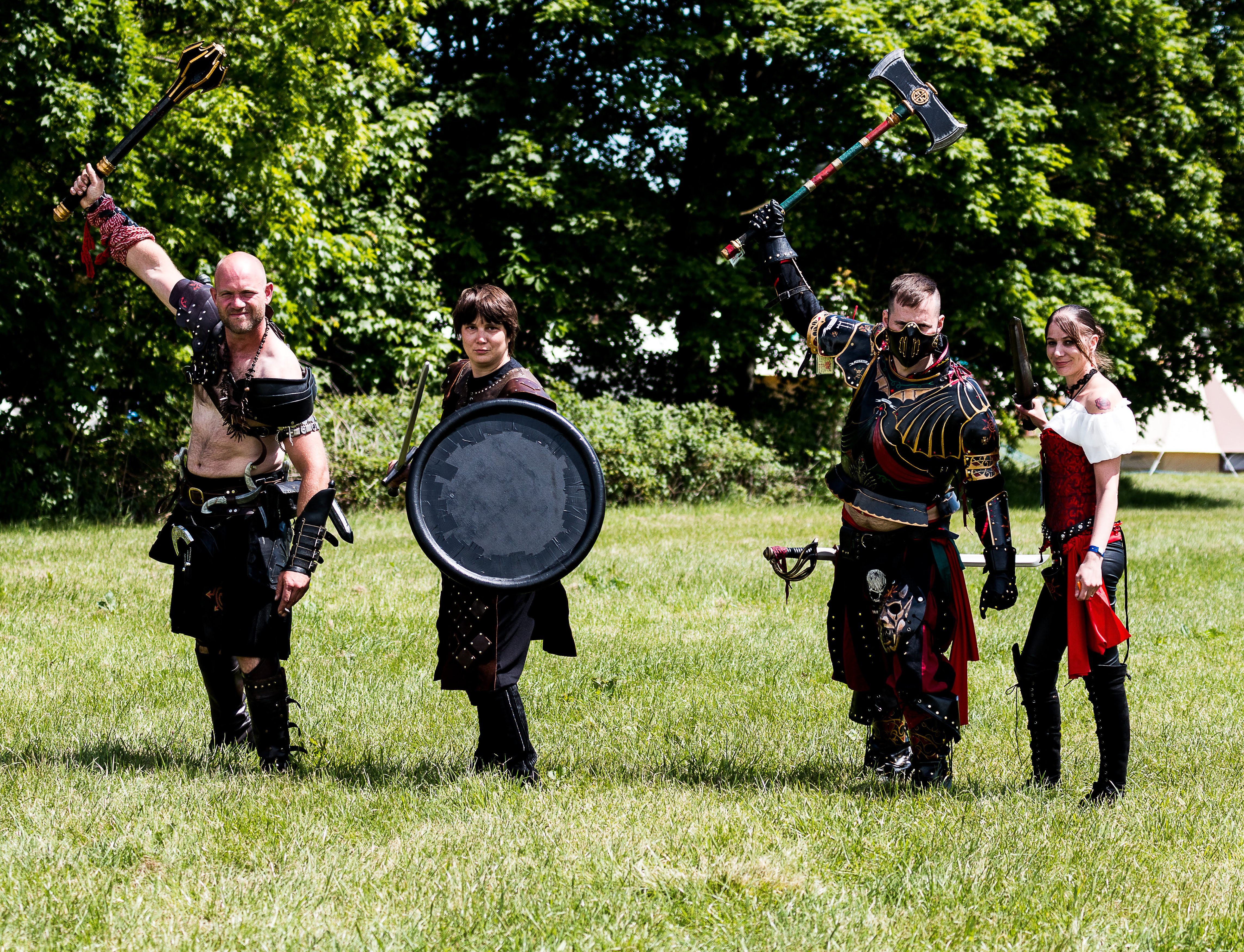 Lorien Trust players at a UK LARP event