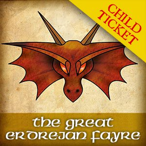 Dragon Image - Ticket Link for The Great Erdrejan Fayre Tickets for children