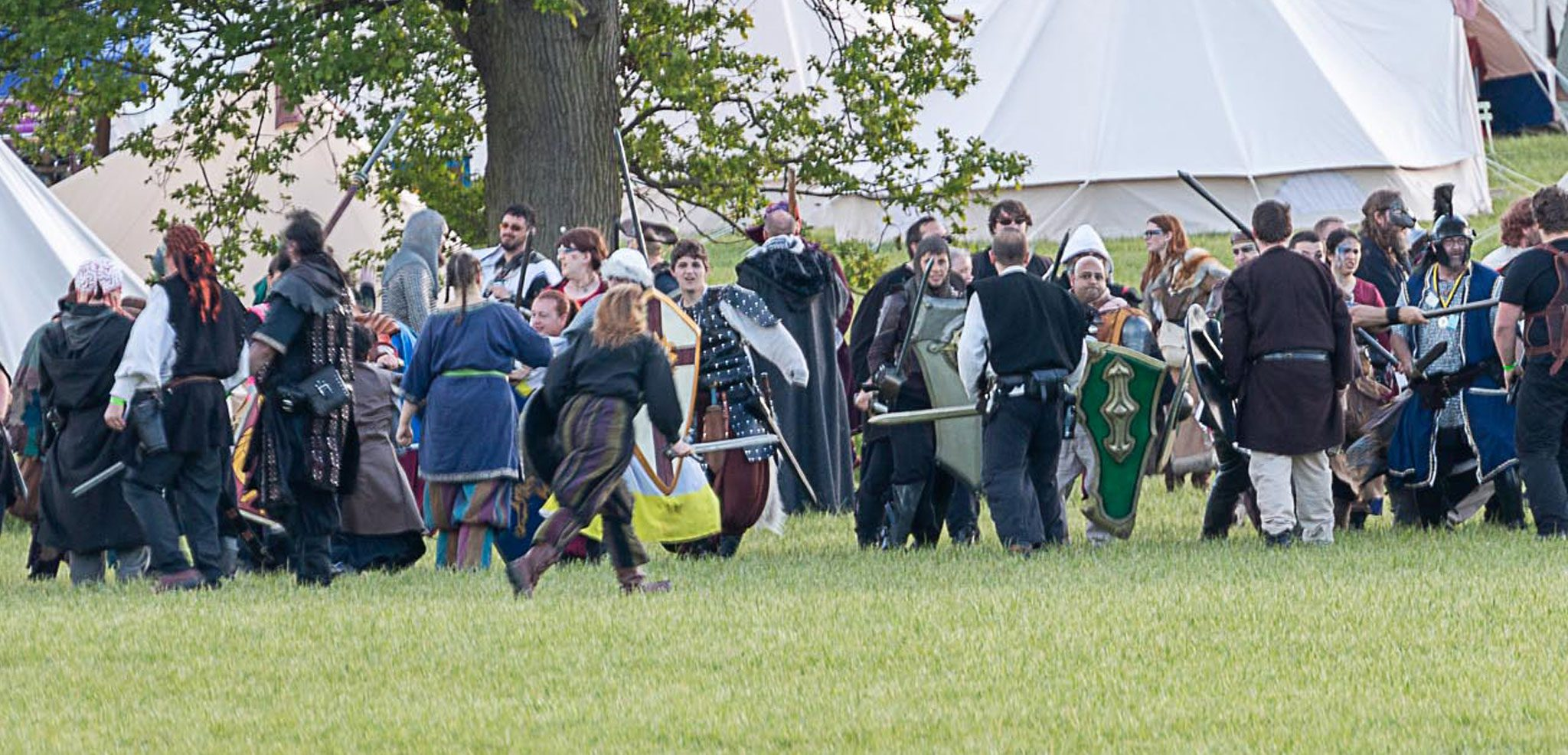 battle re-enactment at a Lorien Trust Live Action Role Play Event weekend